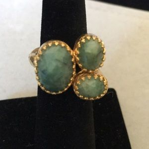 Kevia Chalcedony Cluster Ring